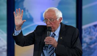 Democratic presidential candidate Sen. Bernie Sanders, I-Vt., speaks during the Climate Forum at Georgetown University, Thursday, Sept. 19, 2019, in Washington. (AP Photo/Jose Luis Magana) **FILE**