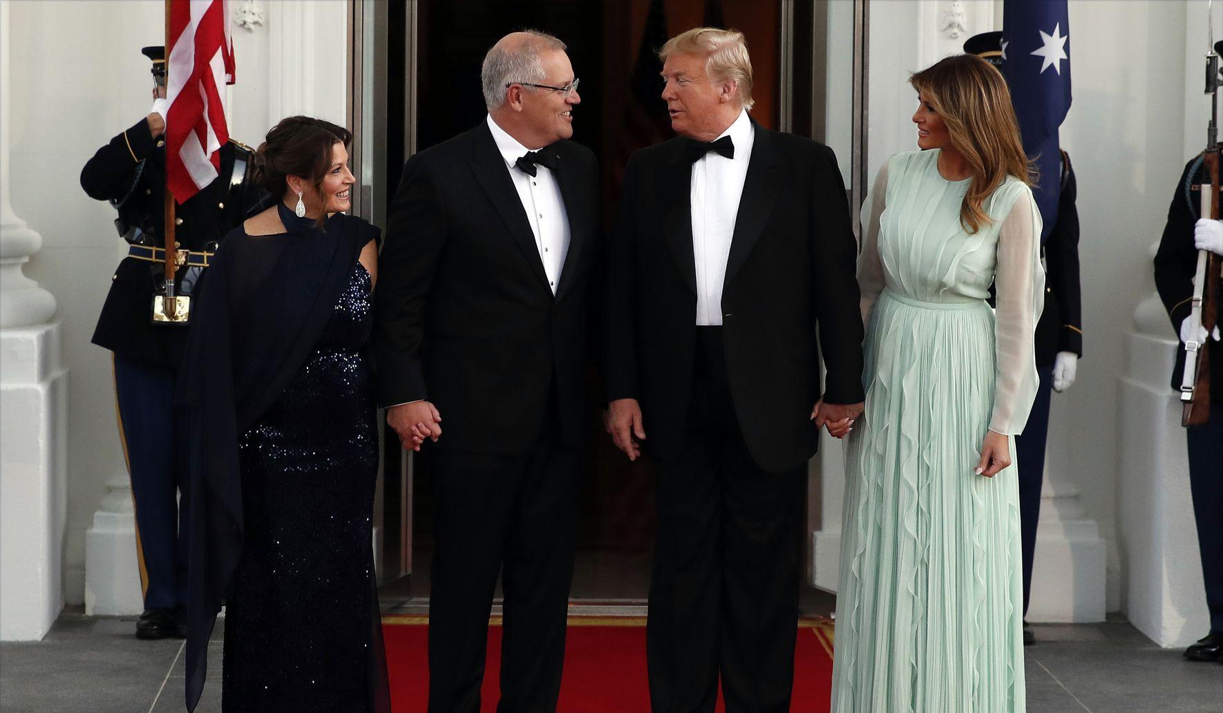 Trumps host glittering state dinner for Australian leader