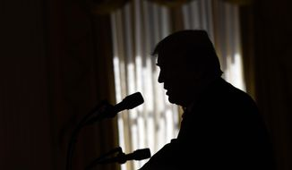 President Donald Trump speaks during a news conference with Australian Prime Minister Scott Morrison in the East Room of the White House in Washington, Friday, Sept. 20, 2019. (AP Photo/Susan Walsh)