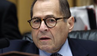 House Judiciary Committee chairman Rep. Jerrold Nadler of N.Y., gives an opening statement as Corey Lewandowski, former campaign manager for President Donald Trump, testifies to the House Judiciary Committee Tuesday, Sept. 17, 2019, on Capitol Hill in Washington. (AP Photo/Jacquelyn Martin)