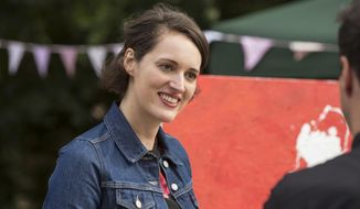 """This image released by Amazon shows Phoebe Waller-Bridge in a scene from """"Fleabag."""" The program, created by Waller-Bridge, is nominated for an Emmy Award for outstanding comedy series. Waller-Bridge is also nominated for best actress in a comedy series. (Amazon via AP)"""