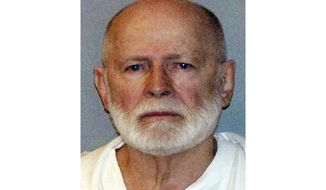 """FILE - This file June 23, 2011, booking photo provided by the U.S. Marshals Service shows James """"Whitey"""" Bulger. The family of the slain Boston gangster plans to file a wrongful death claim against the federal government in September 2019, following Bulger's death in prison in 2018. Bulger was convicted in 2013 of participating in 11 murders during the 1970s and '80s. (U.S. Marshals Service via AP, File)"""