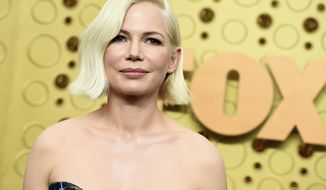 Michelle Williams arrives at the 71st Primetime Emmy Awards on Sunday, Sept. 22, 2019, at the Microsoft Theater in Los Angeles. (Photo by Jordan Strauss/Invision/AP)