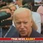 "Former Vice President Joseph R. Biden tells Fox News' Peter Doocy to ""ask the right questions"" regarding an inquiry into son Hunter Biden's business dealings, Sept. 21, 2019. (Image: Fox News video screenshot)"