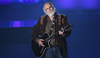 FILE - This June 18, 2015 file photo shows Robert Hunter at the 46th Annual Songwriters Hall Of Fame Induction and Awards Gala in New York. Hunter, the man behind the poetic and mystical words for many of the Grateful Dead's finest songs, died Monday, Sept. 23, 2019, at his Northern California home, according to Grateful Dead drummer Mickey Hart. He was 78. (Photo by Evan Agostini/Invision/AP, File)
