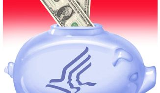 Illustration on Medicare HSAs by Alexander Hunter/The Washington Times