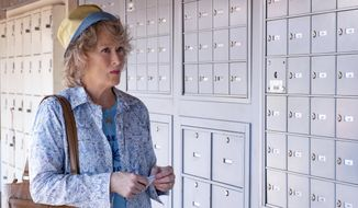 """This image released by Netflix shows Meryl Streep in a scene from """"The Laundromat,"""" in theaters on Sept. 27. (Claudette Barius/Netflix via AP)"""