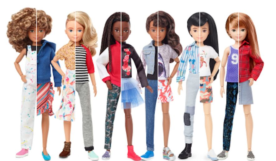"""Mattel Inc. has unveiled a new line of customizable dolls that are free of gender labels in a step toward more """"inclusive"""" play, the company said Wednesday, Sept. 25, 2019. (Mattel)"""