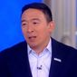 """Presidential candidate Andrew Yang discusses his vision for the Democratic Party during an interview on ABC's """"The View,"""" Sept. 26, 2019. (Image: Twitter, """"The View"""" video screenshot)"""