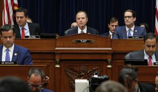 House Intelligence Committee Chairman, Rep. Adam Schiff, D-Calif., speaks before Acting Director of National Intelligence Joseph Maguire testifies before the House Intelligence Committee on Capitol Hill in Washington, Thursday, Sept. 26, 2019. (AP Photo/Pablo Martinez Monsivais)