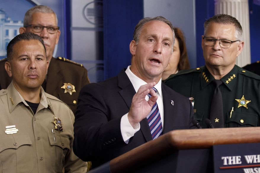 Matthew Albence, acting Director of U.S. Immigration and Customs Enforcement, said he has deployed ICE officials across the country in an effort to cajole local officials to renounce their sanctuary policies and cooperate on deportations. (Associated Press)