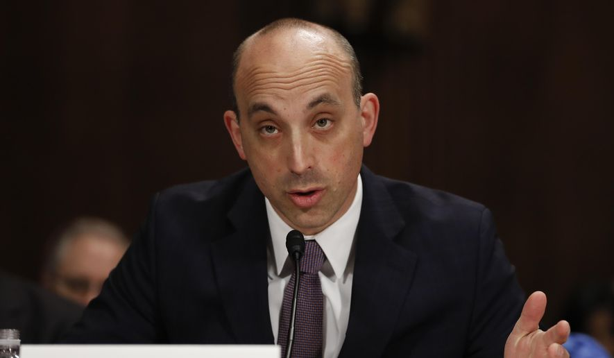 In this May 2, 2017, file photo Jonathan Greenblatt, CEO and National Director of the Anti-Defamation League, speaks on Capitol Hill in Washington.  (AP Photo/Carolyn Kaster, File)  **FILE**