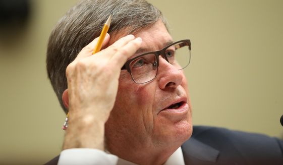 Acting Director of National Intelligence Joseph Maguire testifies before the House Intelligence Committee on Capitol Hill in Washington, Thursday, Sept. 26, 2019. (AP Photo/Andrew Harnik)