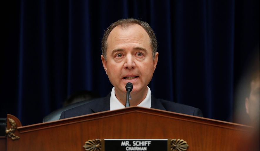 House Intelligence Committee Chairman Rep. Adam Schiff started Thursday's hearing by setting aside the transcript of the telephone call between President Trump and the president of Ukraine. (Associated PRess)