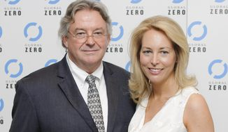 Former U.S. CIA Operations Officer, Valerie Plame Wilson and husband Joseph C. Wilson, arrive for the UK film premiere of Countdown to Zero at a central London venue, Tuesday, June. 21, 2011. (AP Photo/Jonathan Short) ** FILE **