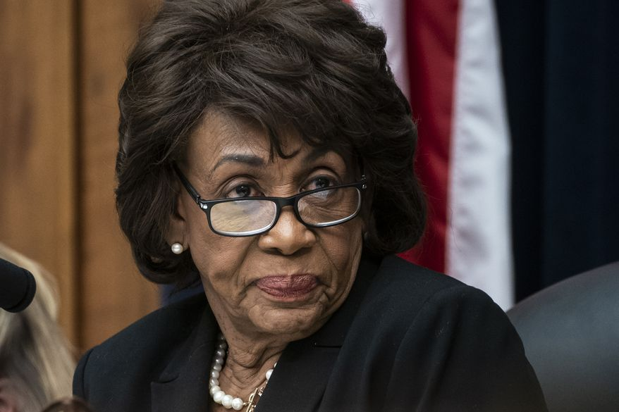 House Financial Services Committee Chair Maxine Waters, D-Calif., leads a hearing to review the Consumer Financial Protection Bureau's mission to focus priority on consumers on Capitol Hill in Washington, In this March 7, 2019. (AP Photo/J. Scott Applewhite) ** FILE **