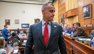 Former Trump campaign manager Corey Lewandowski is shown in this file photo from Sept. 17, 2019. Mr. Lewandowski has decided against a 2020 U.S. Senate run in New Hampshire, despite encouragement from Mr. Trump for him to challenge Democratic incumbent Sen. Jeanne Shaheen. (Associated Press)