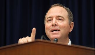 """""""We are moving forward with all speed,"""" House Intelligence Committee Chairman Adam Schiff said. Mr. Schiff said his panel is moving forward with its impeachment inquiry and will hear from the inspector general as well as state department officials. (Associated Press)"""