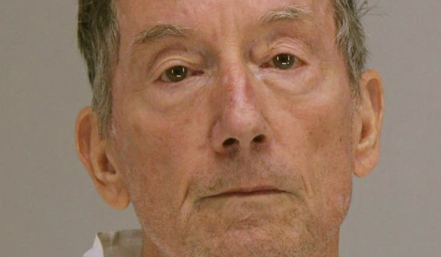 This booking photo, provided Sunday, Sept. 29, 2019, by the Dallas County Sheriffs Office, shows James Michael Meyer, 72, of Dallas, charged with murder in the fatal shooting early Thursday, Sept. 26, of a man that police say Meyer reported as a burglary.  (Dallas County Sheriffs Office via AP)