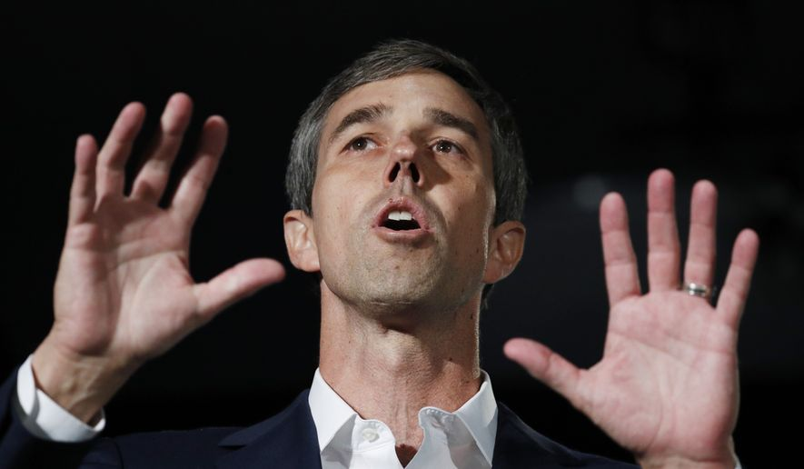 In this Aug. 3, 2019 file photo, former Democratic presidential candidate and former Texas Rep. Beto O'Rourke speaks during a public employees union candidate forum in Las Vegas. (AP Photo/John Locher)
