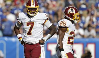 Washington Redskins quarterback Dwayne Haskins (7) during the second half of an NFL football game against the New York Giants, Sunday, Sept. 29, 2019, in East Rutherford, N.J. (AP Photo/Adam Hunger)