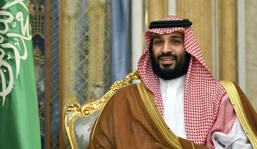 In this Sept. 18, 2019, file photo, Saudi Arabia's Crown Prince Mohammed bin Salman attends a meeting with U.S. Secretary of State Mike Pompeo in Jeddah, Saudi Arabia. (Mandel Ngan/Pool Photo via AP, File)