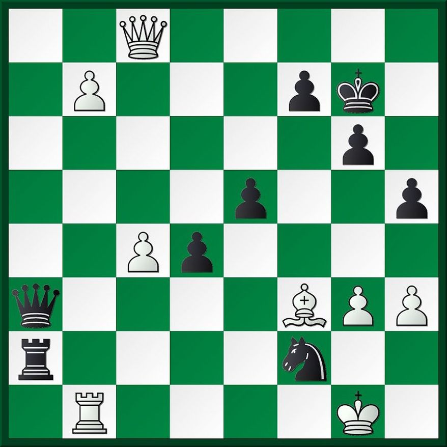 Tsydypov-Lugovskoy after 28...Qd6-a3.