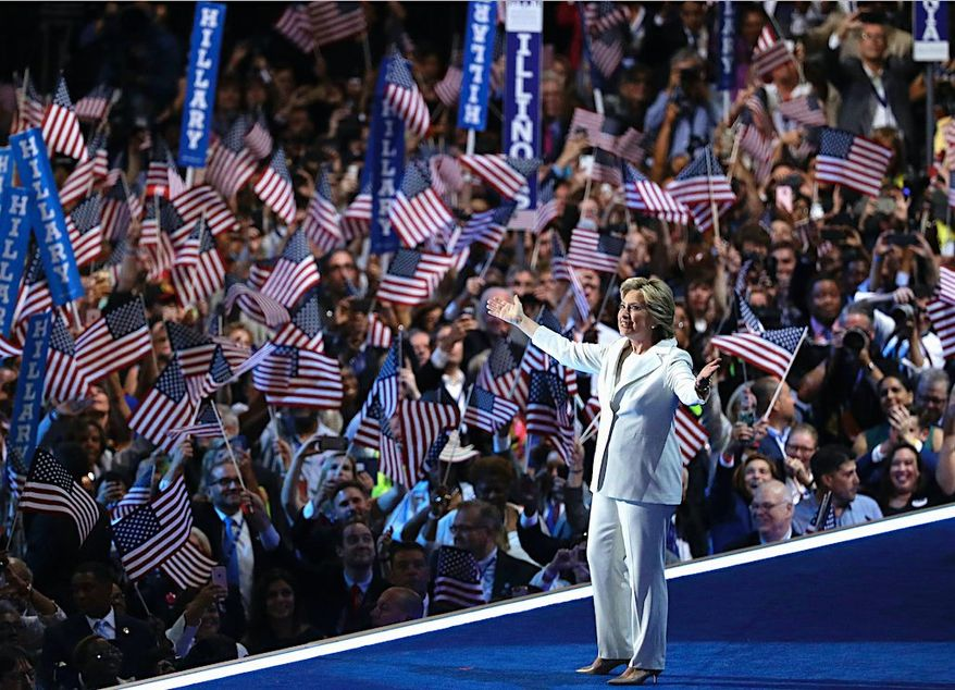 Presidential candidate Hillary Clinton in 2016. (Associated Press)