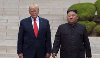 North Korean leader Kim Jong-un's demand that President Trump and the U.S. deliver sweeping sanctions relief in exchange for only a partial dismantling of his nuclear arsenal forced February's Hanoi talks to collapse. (ASSOCIATED PRESS)