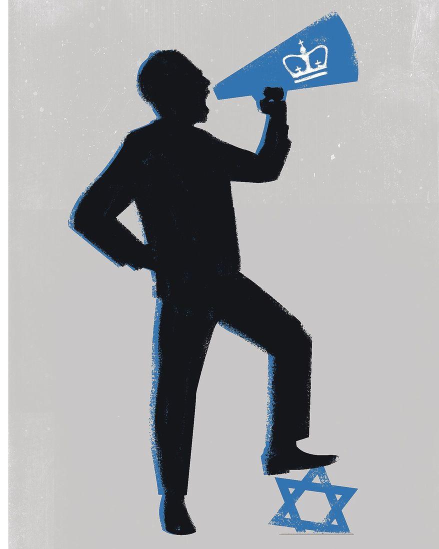 Illustration on anti-semitism by Linas Garsys/The Washington Times
