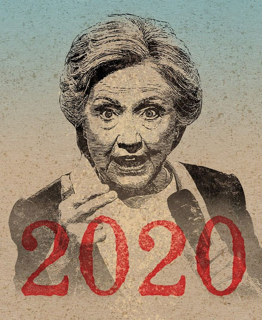 The Inevitable One, Hillary Clinton Illustration by Greg Groesch/The Washington Times