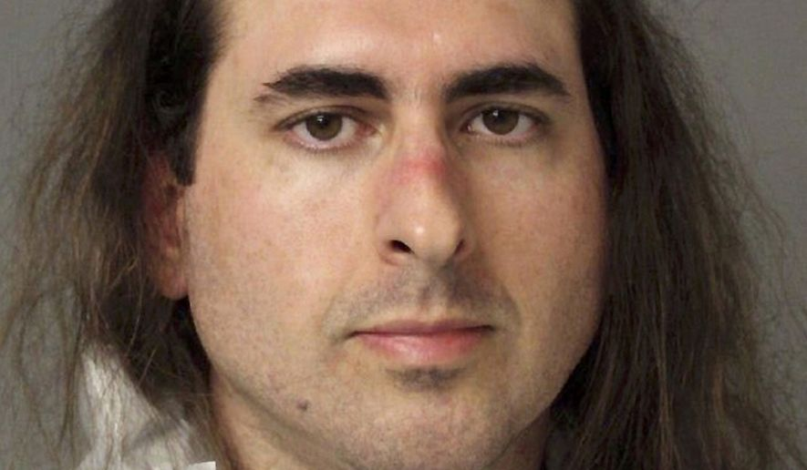 This June 28, 2018, file photo provided by the Anne Arundel Police shows Jarrod Ramos in Annapolis, Md. Ramos who is charged with five counts of first-degree murder in a shooting at a newspaper has pleaded not guilty and not criminally responsible. (Anne Arundel Police via AP, File)