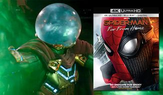 "Spidey teams up with Mysterio in ""Spider-Man: Far From Home,"" now available on 4K Ultra HD from Sony Pictures Home Entertainment."