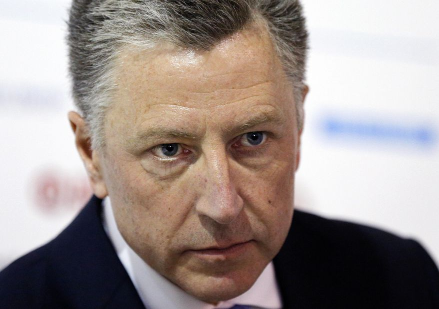 U.S. special representative to Ukraine Kurt Volker attends the 15th Yalta European Strategy (YES) annual meeting at the Mystetsky Arsenal Art Center in Kiev, Ukraine. (AP Photo/Efrem Lukatsky, File)