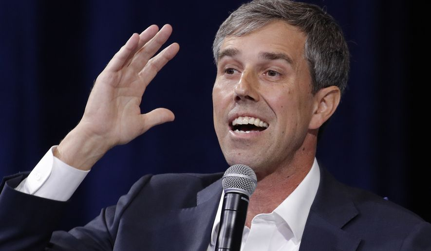 Democratic presidential candidate and former Texas Rep. Beto O'Rourke speaks during a gun safety forum Wednesday, Oct. 2, 2019, in Las Vegas. (AP Photo/John Locher)