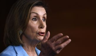 House Speaker Nancy Pelosi of Calif., speaks during a news conference on Capitol Hill in Washington, Wednesday, Oct. 2, 2019 (AP Photo/Susan Walsh)