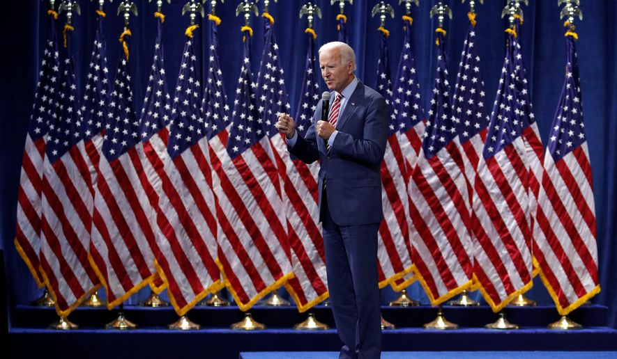 Former Vice President Joseph R. Biden, the 2020 Democratic front-runner, has long touted his ability to cut through partisanship. (Associated Press)