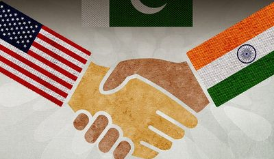 US-India Relationship Illustration by Greg Groesch/The Washington Times