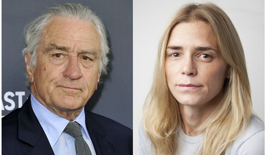 This combination photo shows Robert De Niro at the Comedy Central roast of Alec Baldwin in Beverly Hills, Calif., on Sept. 7, 2019, left, and  Chase Robinson, a former employee of Robert De Niro's company, Canal Productions in New York on Oct. 2, 3019. On Thursday, Oct. 3, Robinson filed a lawsuit against De Niro in Manhattan federal court, seeking $12 million. The lawsuit came six weeks after De Niro's company sought $6 million from Robinson in state court, accusing her of misappropriating money. (AP Photo, left, Sanford Heisler Sharp, LLP. via AP)