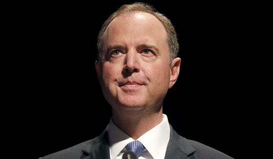 "California Congressman Adam Schiff begins his remarks titled ""The Threat to Liberal Democracy at Home and Abroad,"" to the Leopold Lecture at Northwestern University Thursday, Oct. 3, 2019, in Evanston, Ill. (AP Photo/Charles Rex Arbogast)"