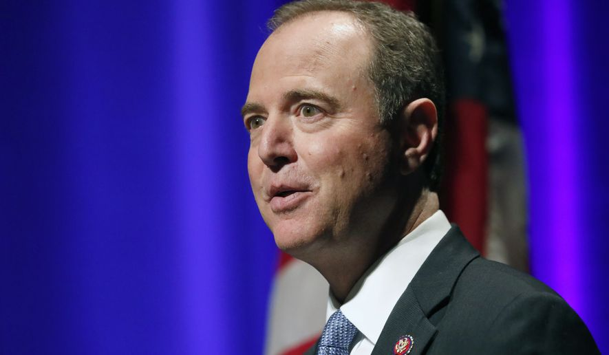 "California Congressman Adam Schiff delivers remarks titled ""The Threat to Liberal Democracy at Home and Abroad,"" to the Leopold Lecture at Northwestern University Thursday, Oct. 3, 2019, in Evanston , Ill. (AP Photo/Charles Rex Arbogast)"