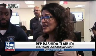 "Michigan Rep. Rashida Tlaib from Detroit Police Chief James Craig for her assertion that facial recognition analysts ""need to be African-Americans"" because ""non-African-Americans think African-Americans all look the same."" Mr. Craig told Fox News on Oct. 3, 2019 that officials were ""appalled"" at her comment. (Image: Fox News screenshot)"