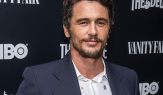 "FILE - This Sept. 5, 2019 file photo shows James Franco at the premiere of HBO's ""The Deuce"" third and final season in New York. Two actresses have sued Franco and his former acting and film school, saying they were pushed into gratuitous and exploitative sexual situations as his students.  (Photo by Charles Sykes/Invision/AP, File)"