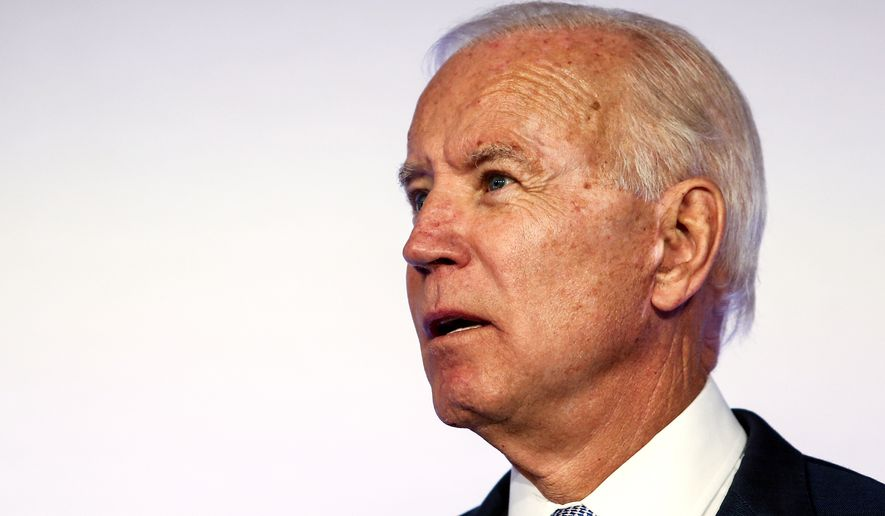 """Democratic presidential candidate Joseph R. Biden has promised repeatedly to restore the """"integrity"""" and """"soul"""" of the country. (Associated Press/File)"""