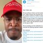"Comedian Terrence K. Williams reacts to an email sent to him by Twitter's legal team about possible ""hateful conduct"" violations, Oct. 4, 2019. (Image: Twitter, Terrence K. Williams video screenshot)"