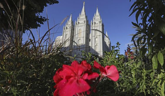 The Salt Lake Temple, at Temple Square, is shown Friday, Oct. 4, 2019, in Salt Lake City. The president of The Church of Jesus Christ of Latter-day Saints has rolled out a dizzying number of policy changes during his first two years at the helm of the faith, leading to heightened anticipation for what he may announce at this weekend's church conference in Salt Lake City. (AP Photo/Rick Bowmer)