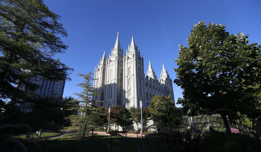 The Salt Lake Temple, at Temple Square, is shown before the start of The Church of Jesus Christ of Latter-day Saints' twice-annual church conference Saturday, Oct. 5, 2019, in Salt Lake City. President Russell M. Nelson has rolled out a dizzying number of policy changes during his first two years at the helm of the faith, leading to heightened anticipation for what he may announce at this weekend's conference in Salt Lake City. (AP Photo/Rick Bowmer)