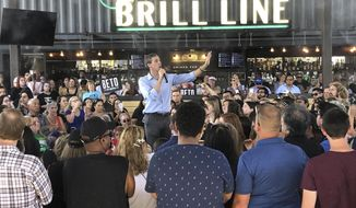 "Democratic presidential candidate Beto O'Rourke takes his calls for tough gun laws and inclusive immigration policies to Phoenix, Ariz., Sunday, Oct. 6, 2019. O'Rourke on Sunday laid out a progressive vision of a country that grants citizenship to young immigrants known as ""Dreamers"" and treats all immigrants with respect. He told an enthusiastic crowd in Phoenix that Democrats would rewrite immigration laws in their own image.  (AP Photo/Jonathan Cooper)"