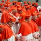 Pope Francis appointed 13 cardinals at St. Peter's Basilica at the Vatican on Saturday that he admires and whose sympathies align with his to become the Catholic Church's newest cardinals. (Associated Press)