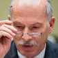 Washington, D.C. City Council Chairman Phil Mendelson testifies on Capitol Hill in Washington, Thursday, May 12, 2016, before a House Government Operations subcommittee hearing on whether the District of Columbia government truly has the power to spend local tax dollars without approval by Congress. (AP Photo/Andrew Harnik) **FILE**